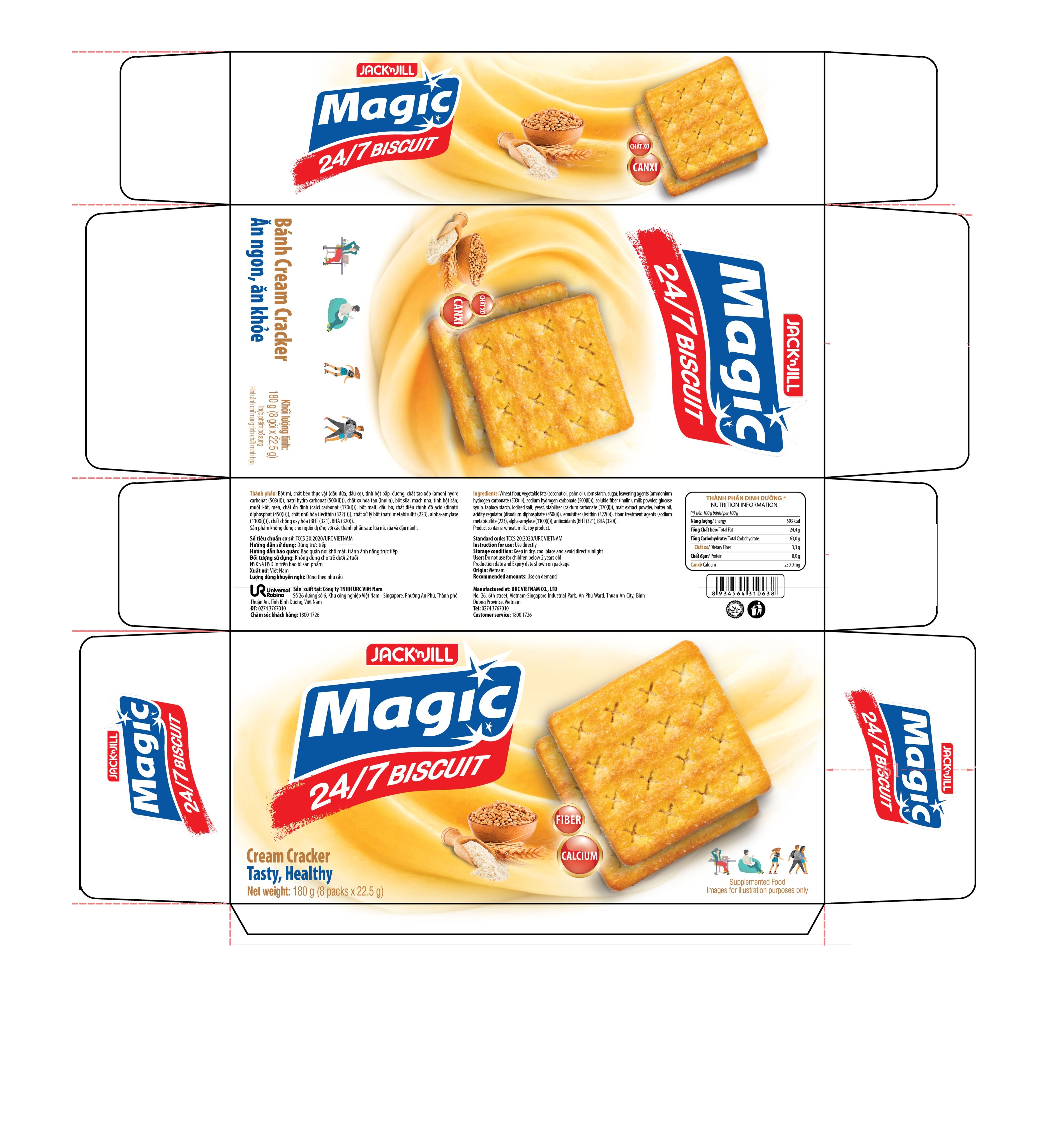 New product announcement MAGIC 24/7 CREAM CRACKER