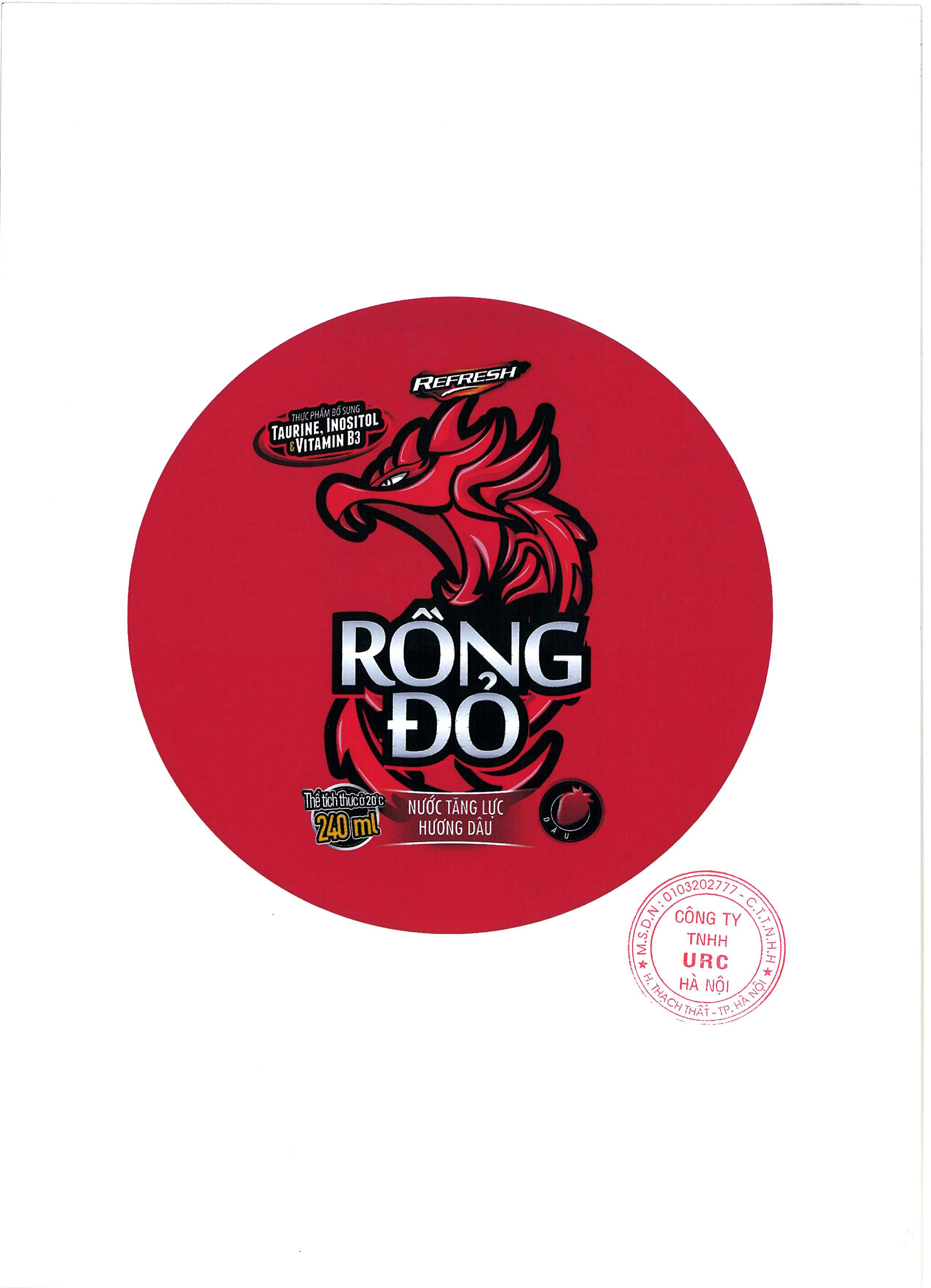 ENERGY DRINK RONG DO STRAWBERRY FLAVOUR