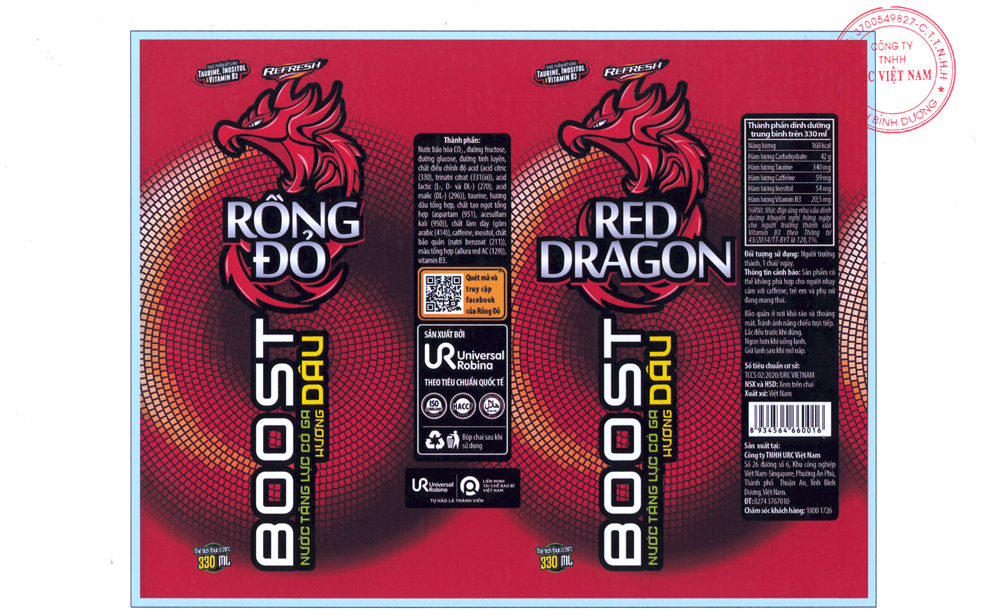 CARBONATED ENERGY DRINK RONG DO STRAWBERRY FLAVOUR