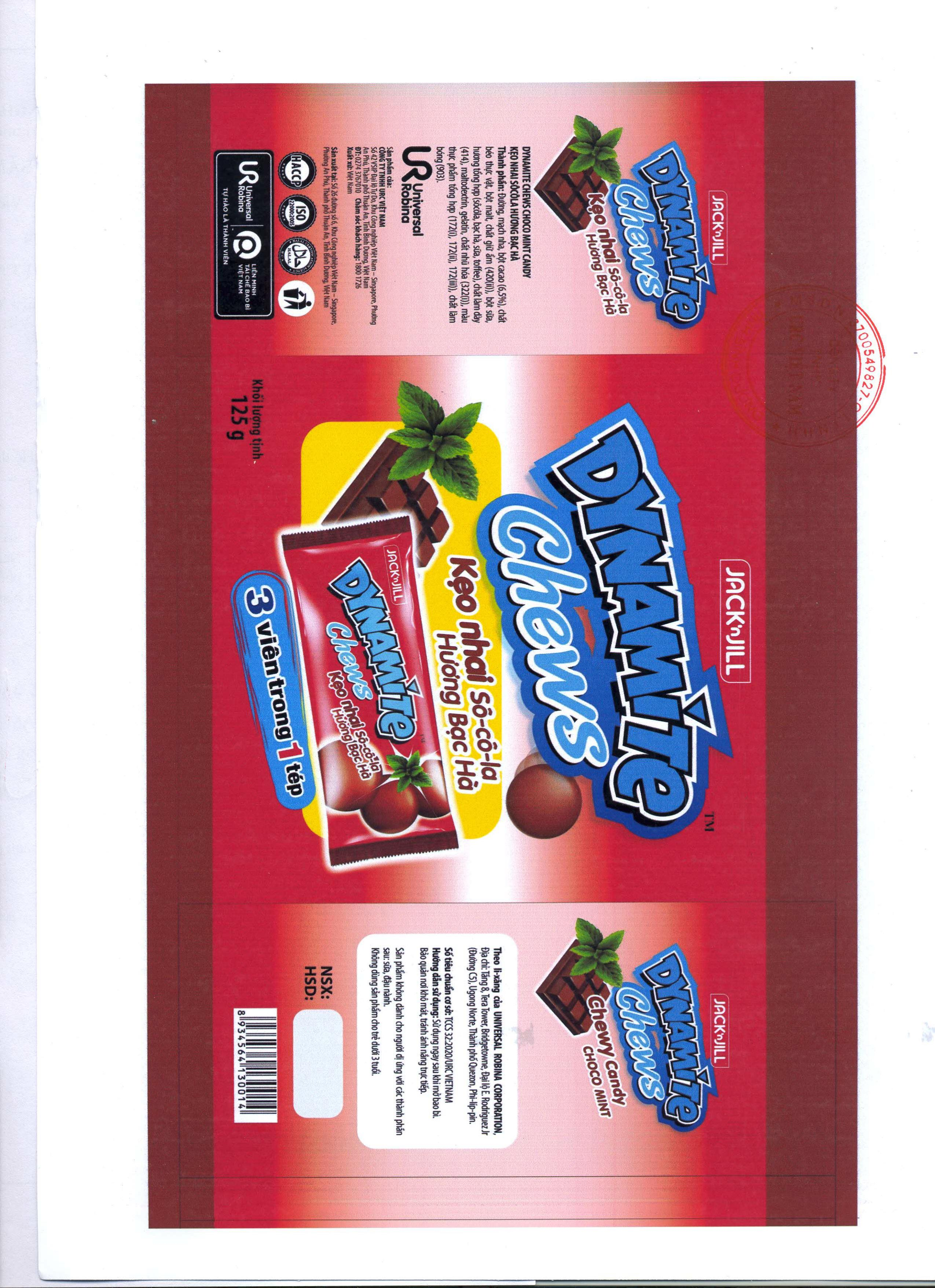 PRODUCT ANNOUNCEMENT DYNAMITE CHEWS CHOCO MINT CANDY