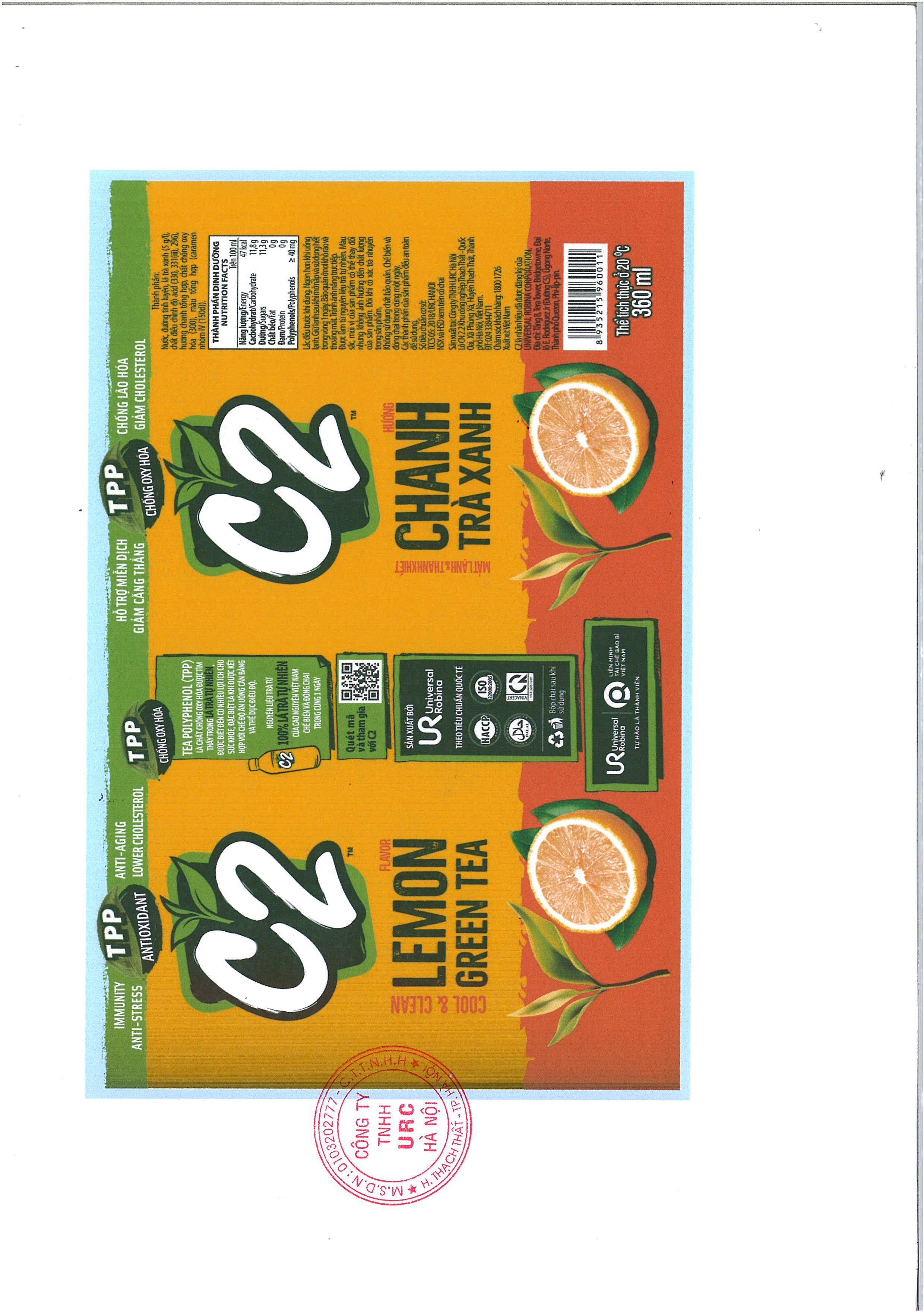 PRODUCT ANNOUNCEMENT C2 GREEN TEA LEMON FLAVOR