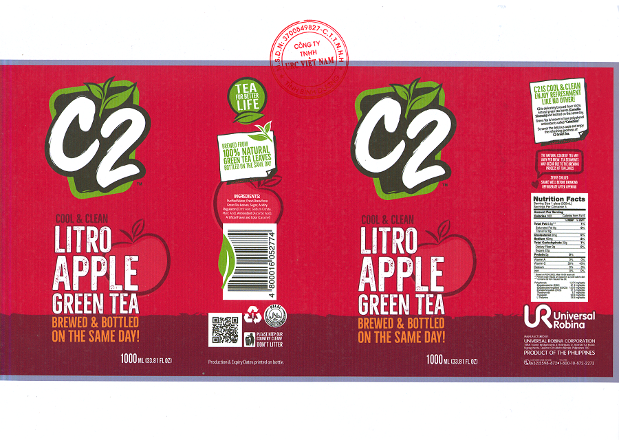 PRODUCT ANNOUNCEMENT C2 GREEN TEA APPLE FLAVOR - IMPORTED PRODUCT